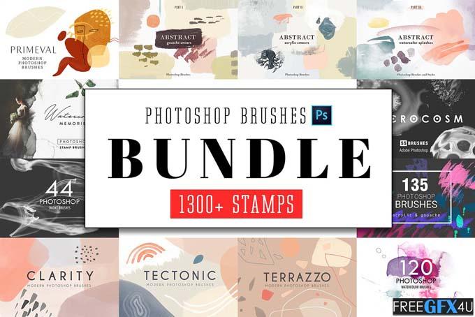 Photoshop Stamp Brushes Bundle