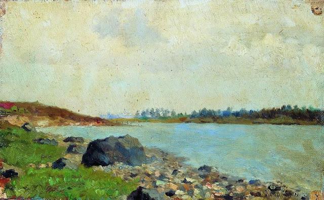 Исаак Ильич Левитан - На Москве-реке. 1877