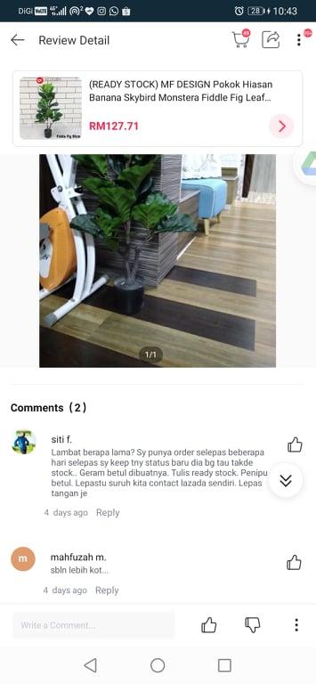 Lazada Blacklist Seller | MF Design Furniture