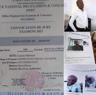 Dahiloune Issouf Oussene, élu délégué d'exécution du personnel de Comores Telecom l'année dernière, vient d'être désigné surveillant à l'examen du Baccalauréat qui commence ce dimanche 12 septembre.