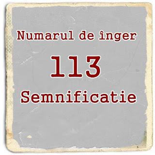 semnificatia numarului de inger 113