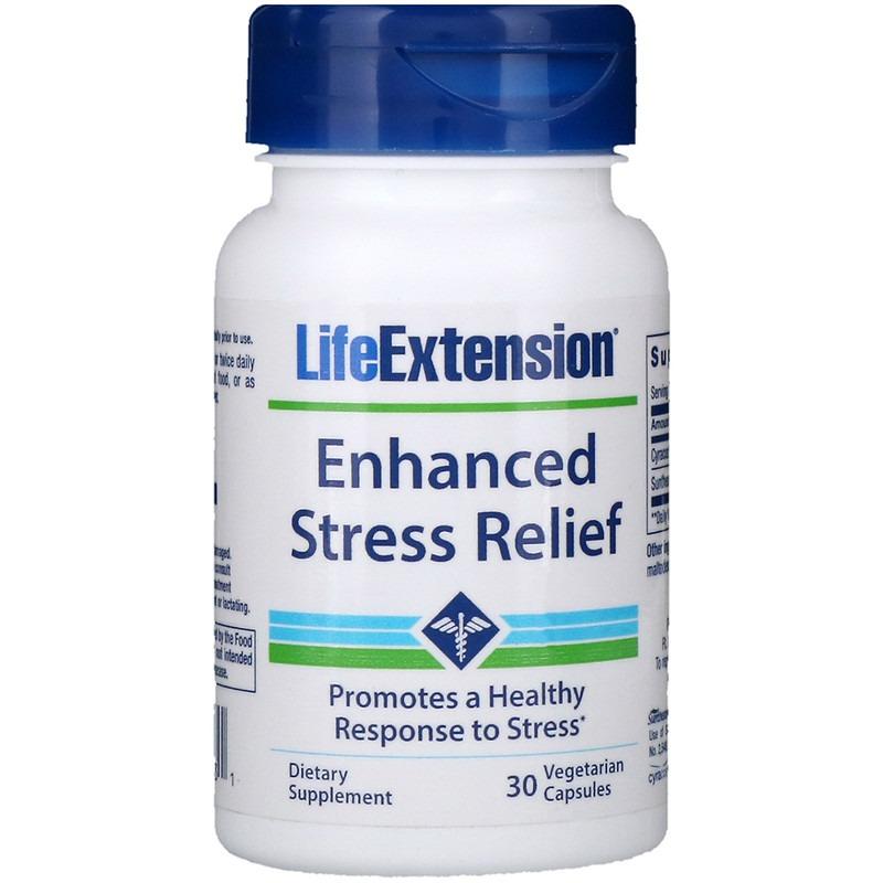 Life Extension, Улучшенное средство от стресса, 30 растительных капсул