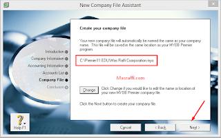 Cara Membuat Data File Laporan Keuangan Baru di Myob