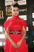 Apoorva in a Stunning Tight Leg Split Sleeveless Red Gown at IIFA Utsavam Awards 43.JPG