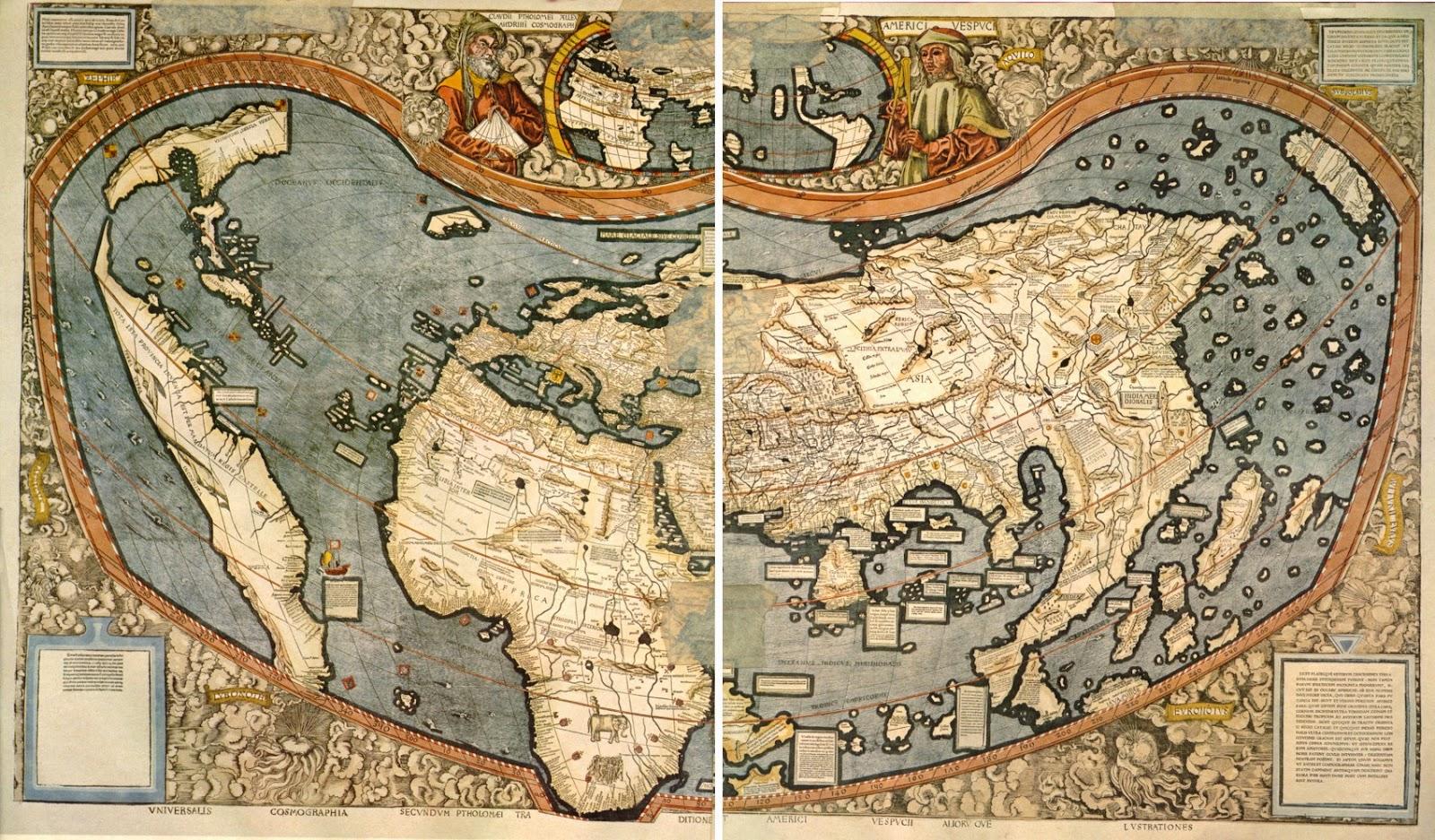 Image result for mapa de waldseemuller