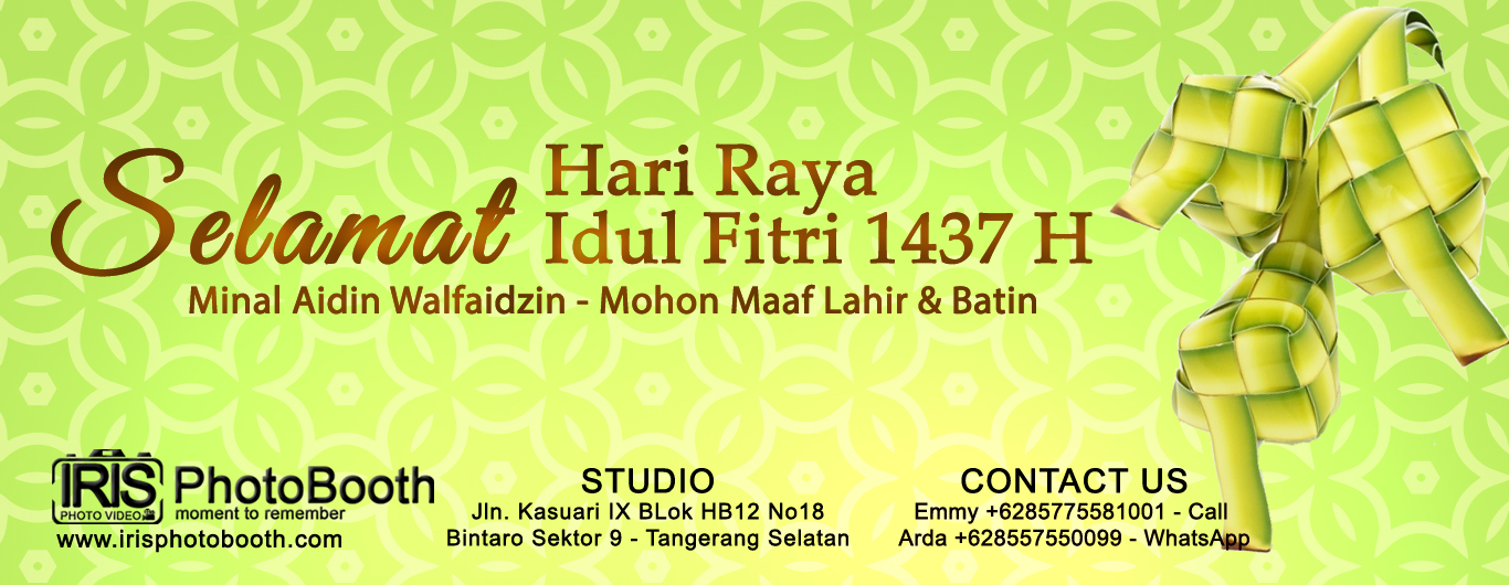 Photo Booth Halal Bi Halal Idul Fitri 1437h 2016 Iris Photobooth