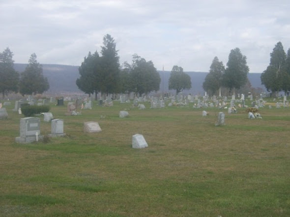 Elimsport Cemetery, where Cassie Foster is buried.