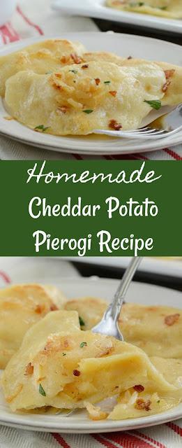 Homemade Cheddar Potato Pierogi