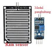 Menggunakan sensor hujan arduino