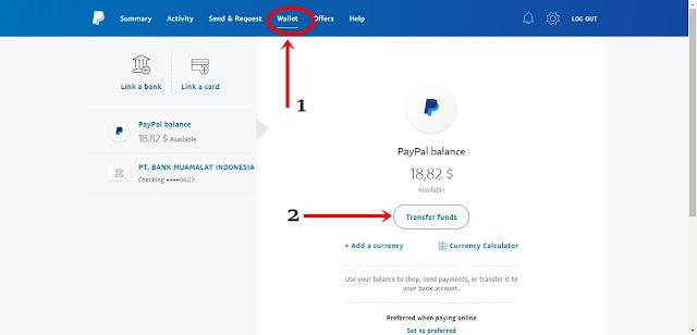 mengirim uang dari paypal ke bank