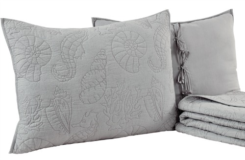 Gray Quilted Bedding