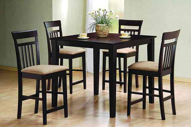Coaster Cappuccino  5 Piece Counter Height Dining Set