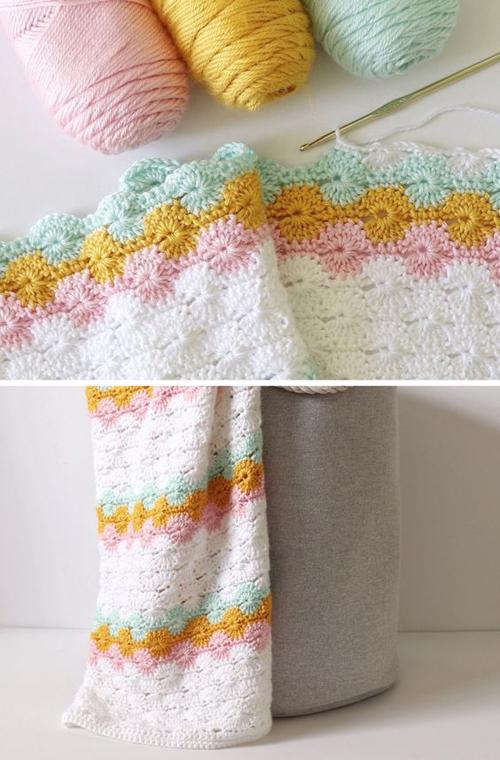 Classic Crochet Catherine's Wheel Blanket - Free Pattern