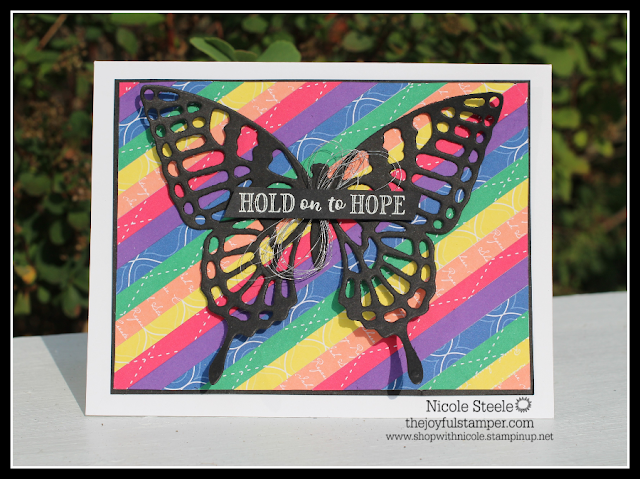 Stampin' Up!'s Hold On To Hope rainbow card by Nicole Steele The Joyful Stamper