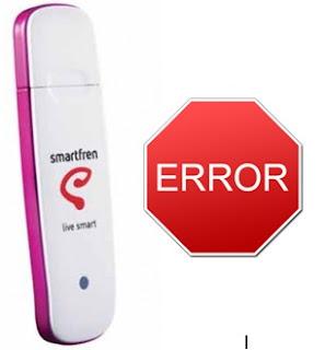 modem smartfren error, smartfren ac692 error