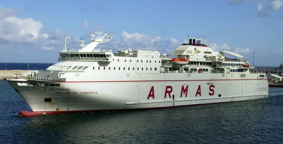 Ferrybalear el volc n de timanfaya de armas acaba de for Horario oficina naviera armas las palmas