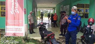 Operasi Yustisi Penegakkan Disiplin Penggunaan Masker, Bhabinkamtibmas Patroli Di Desa Binaannya