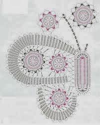 Su Crochet: hermosas mariposas (aplicaciones)