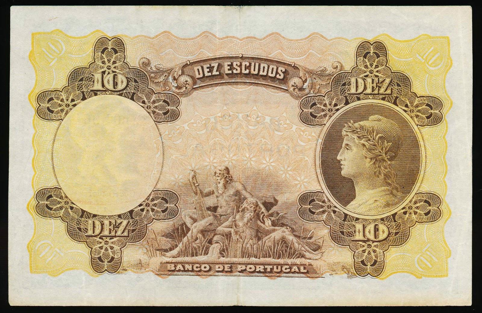 Portugal 10 Portuguese Escudos note of 1920