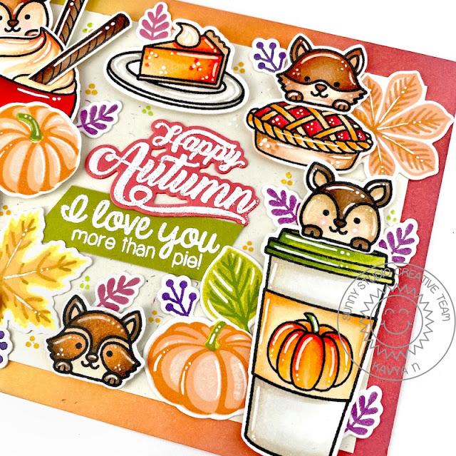 Sunny Studio Stamps: Crisp Autumn Fall Friends Mug Hugs Harvest Happiness Bountiful Autumn Fall Themed Card by Kavya