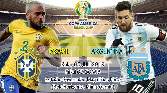 Prediksi Semifinal Copa America 2019 Brasil vs Argentina (03 Juli 2019)