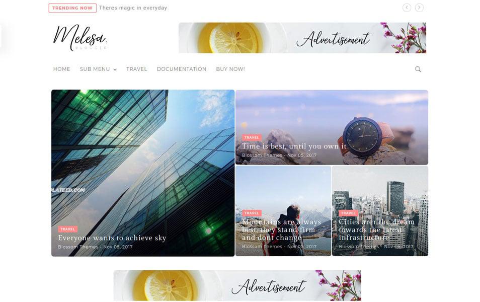 Melesa Responsive Blogger Template
