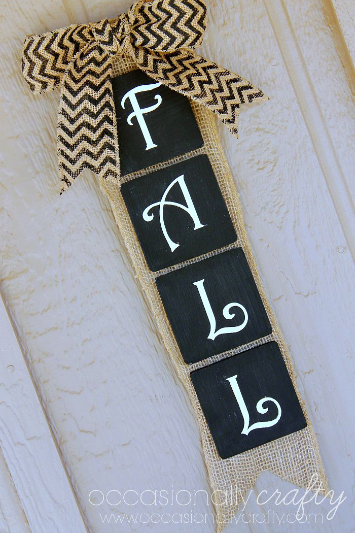 Fall Burlap Wall Hanging