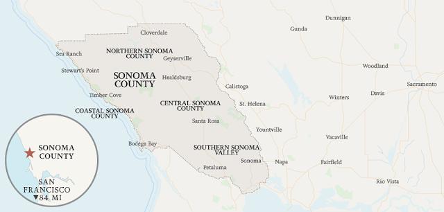 Região central onde ficar em Sonoma