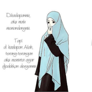 kartun islami gambar wanita muslimah