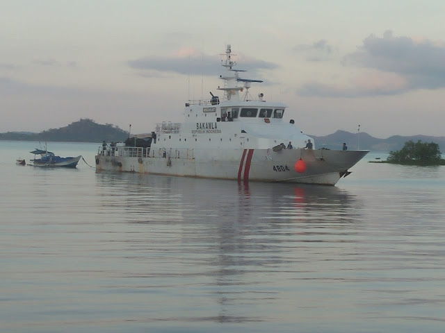 KN Gajah Laut 404 Selamatkan Kapal Motor Mati Mesin Di Perairan Selat Bangka