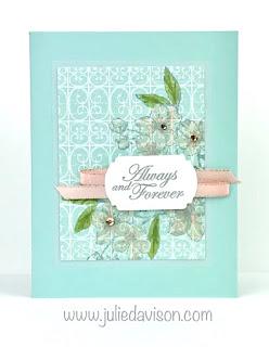 Stampin' Up! Parisian Forever Blossoms Card ~ 2020 Spring Mini Catalog ~ www.juliedavison.com