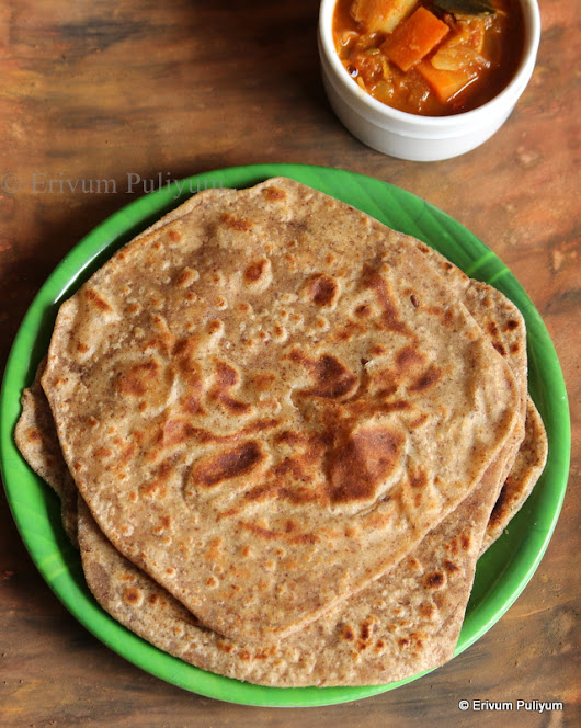 Square Paratha (with Flax Seeds )