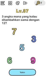 Jawaban 3 Angka Mana yang Kalau Ditambahkan Hasilnya 12 Brain Out