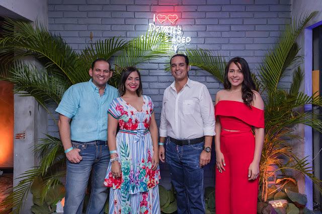 Valentina Santana, Oscar Pichardo, Chanelly Mejiía y Omar Elías.