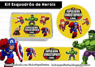 Kit Festa Esquadrão de Heróis