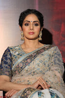 Sri Devi in designer saree stunning beauty at the launch of MOM movie Trailer~  Exclusive 039.JPG
