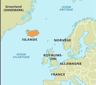 Localiser Islande carte