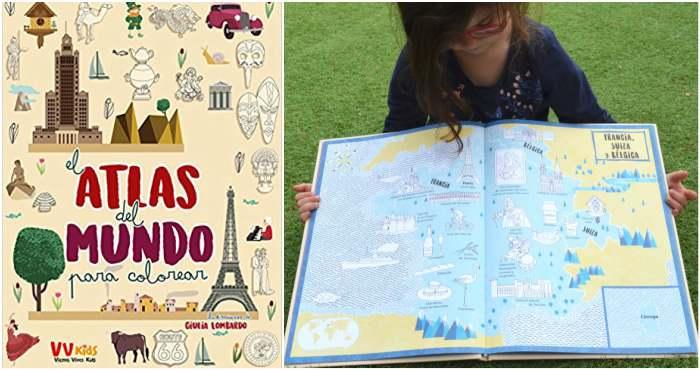 los mejores libros informativos para niños, libros conocimientos geografia, mapas, atlas mundo colorear