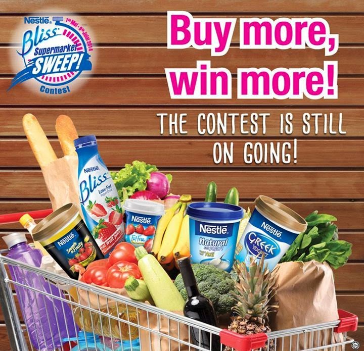 Nestle Bliss Supermarket Sweep Contest, Nestle, Nestle Bliss, Supermarket Sweep Contest, Nestle Bliss Yogurt Drink, Nestle Fat Free Yogurt, Nestle Natural Set Yogurt, Nestle Greek Yogurt, Nestle Smooth & Fruity Yogurt, Nestle Chilled Dairy products
