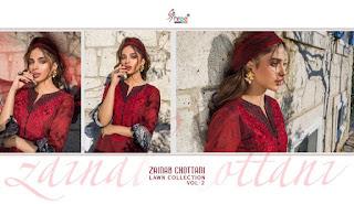 Shree fab Zainab Chotani Lawn collection 2 pakistani suits