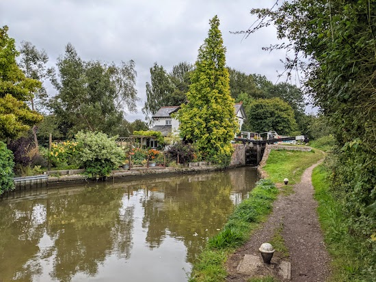 One of the locks along the Grand Union Canal - Aylesbury Arm