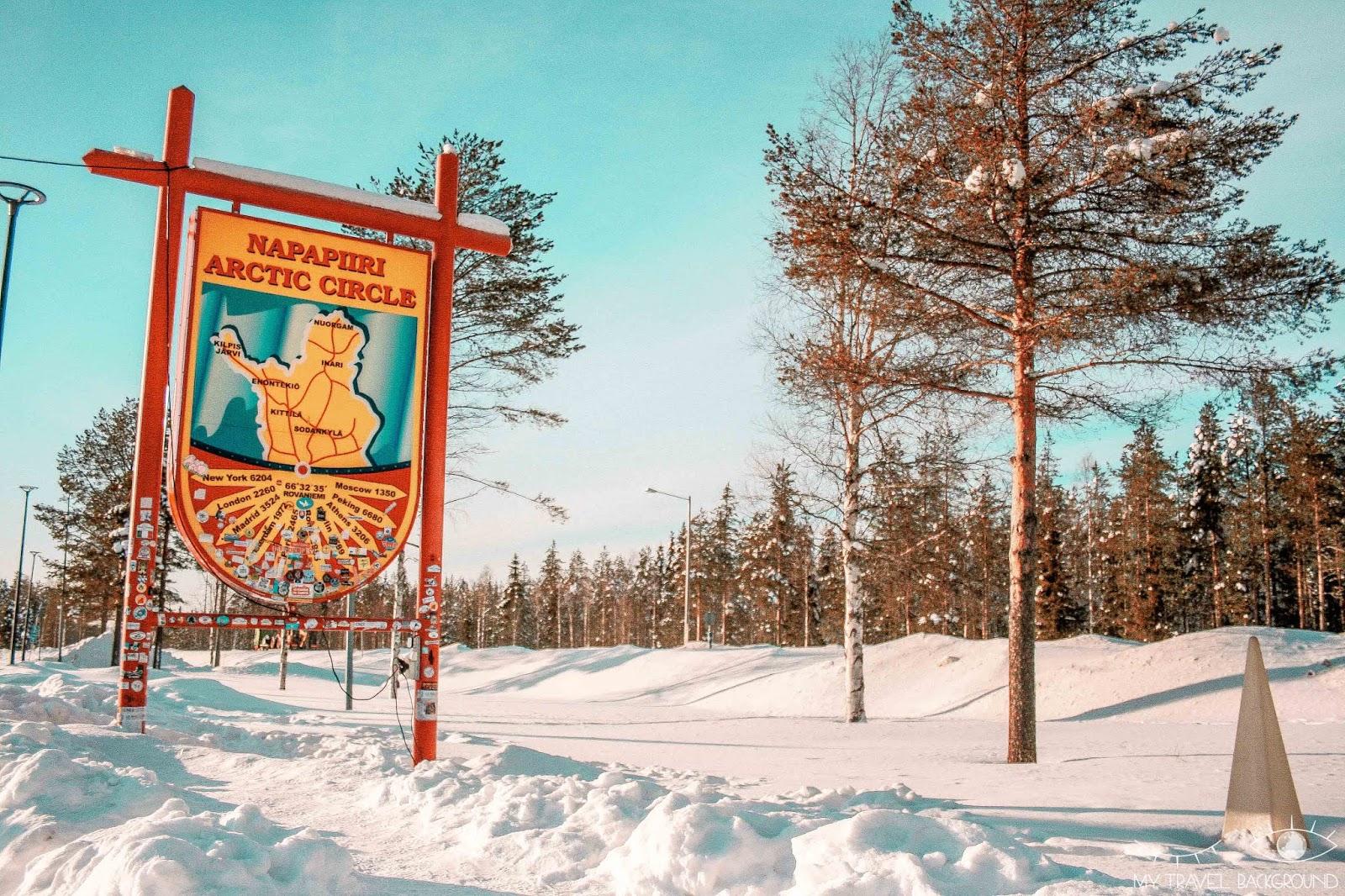 My Travel Background : le jour où j'ai rencontré le Père Noël en Laponie - Napapiiri Arctic Circle - Cercle Polaire Arctique