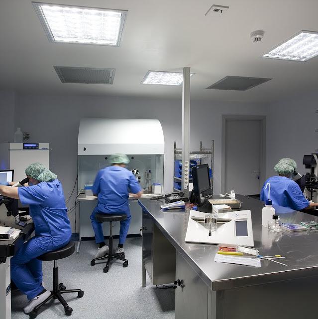 Laboratorio de la Clínica BcnIVF