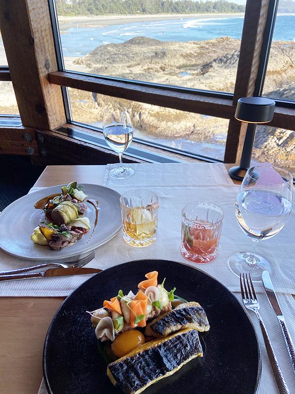 Dinner at The Pointe Restaurant, Wickaninnish Inn, Tofino