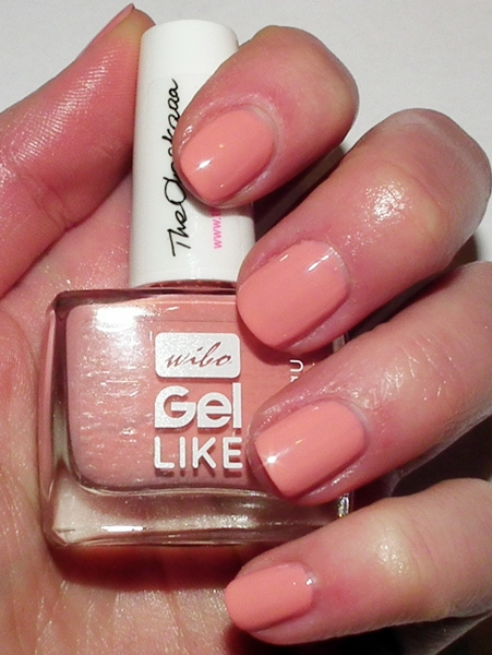 Wibo, Wibo Gel Like nr 9, Wibo Obssesion Nails, peaches and cream od TheOleskaaa, manicure,brzoskwiniowe paznokcie