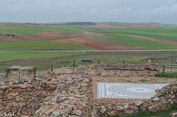 Mosaico vivienda de Silvano en Segobriga. Ciudad romana de Cuenca
