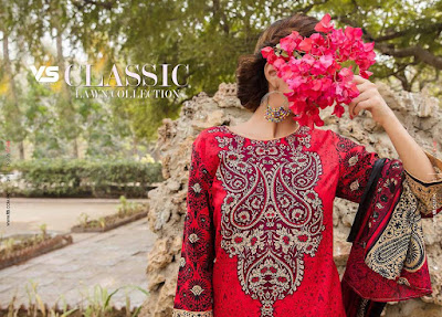 Latest luxury lawn collection 2017 of VS Textiles