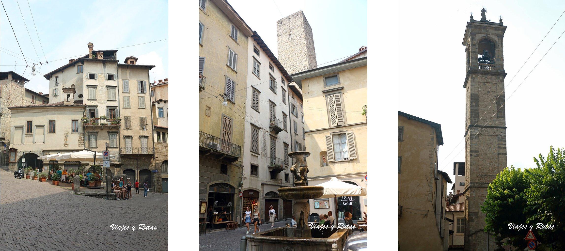 Plazas y Calles de la ciudad alta de Bérgamo