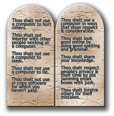 are you ready for android programming the ten commandments in  the ten commandments