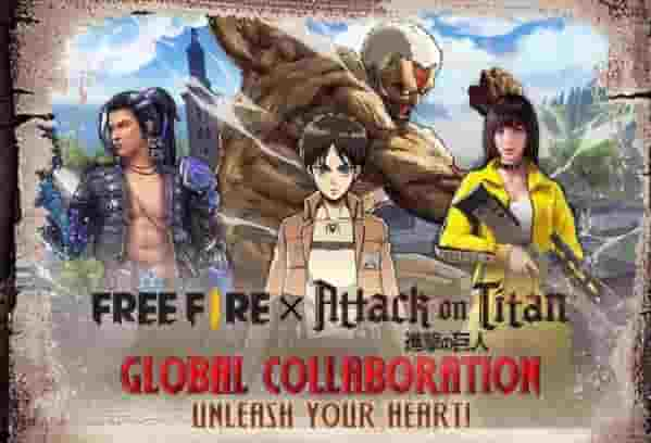 Dapatkan Kostum Survey Corps, Kolaborasi Free Fire x Attack on Titan